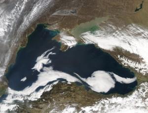 Снимок Черного моря из Космоса