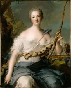 Мадам де Помпадур в образе Дианы-охотницы